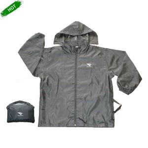 GL5176 Men's Windbreaker with Hidden Hood and Packed into Pocket Bag