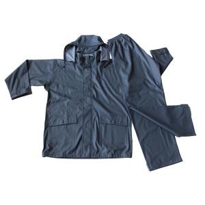 100% Original Fake Down Vest - GL5602 Men's PU Rainsuit with Hood – Greenland