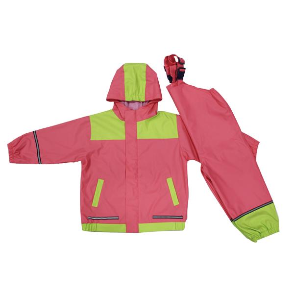 GL5634 Kids' PU Rainsuit with Hood