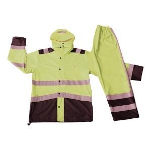 China OEM Men Softshell Jacket - GL6802 Men's PU Rainsuit with Hood – Greenland