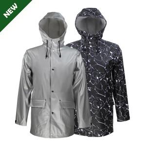 GL6819 Men's PU raincoat with Hood