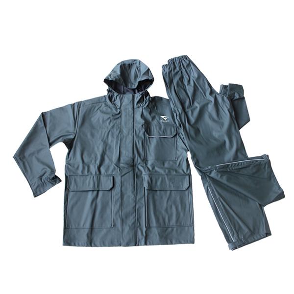 GL6820 Men's semi-PU Rainsuit with Hood