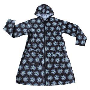 GL6821 Women's PU Long raincoat with Hood