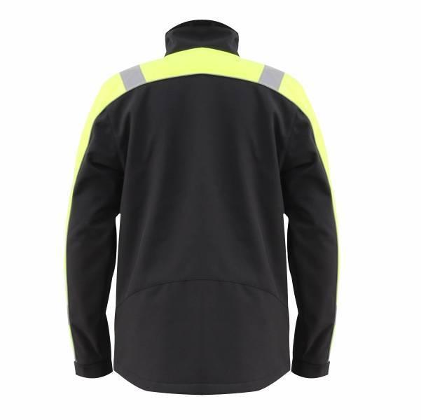 GL8364B Classical Comfortable Fluorescent Hi-Vis Color Softshell Jacket for Men with long zipper