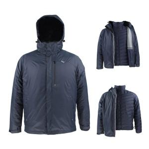 OEM Customized Rain Poncho - GL8375 Mens Outdoor 3 in 1 Ski Winter Jacket with Waterproof Fashion Fabric – Greenland