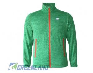 Outdoor mélange fleece jacket for Men with soft fleece Fabric