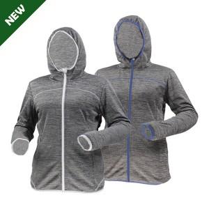 GL8422 Outdoor mélange brushed fleece jacket for women with soft feeling