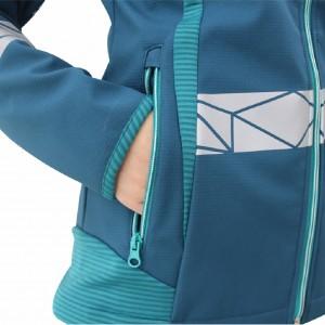Modern Comfortable Fluorescent Hi Vis Color Softshell Jacket for Lady