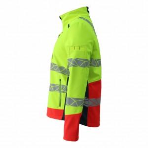 GL8673 Modern Comfortable Fluorescent Hi-Vis Color Softshell Jacket for Men